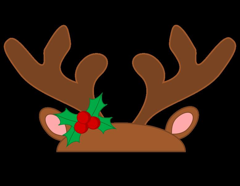 Rudolph reindeer clip art. Antler clipart printable