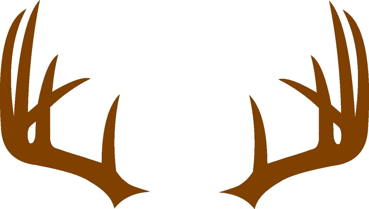 Deer antler monogram frame. Antlers clipart svg