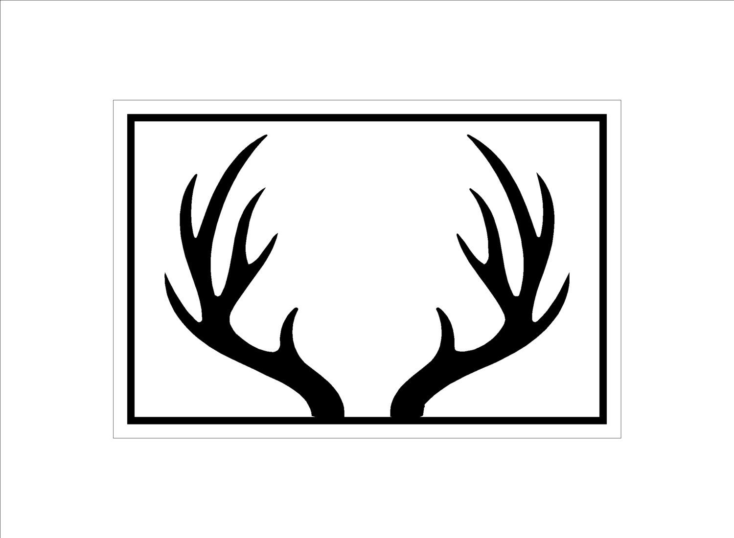 Deer pinterest google search. Antlers clipart printable