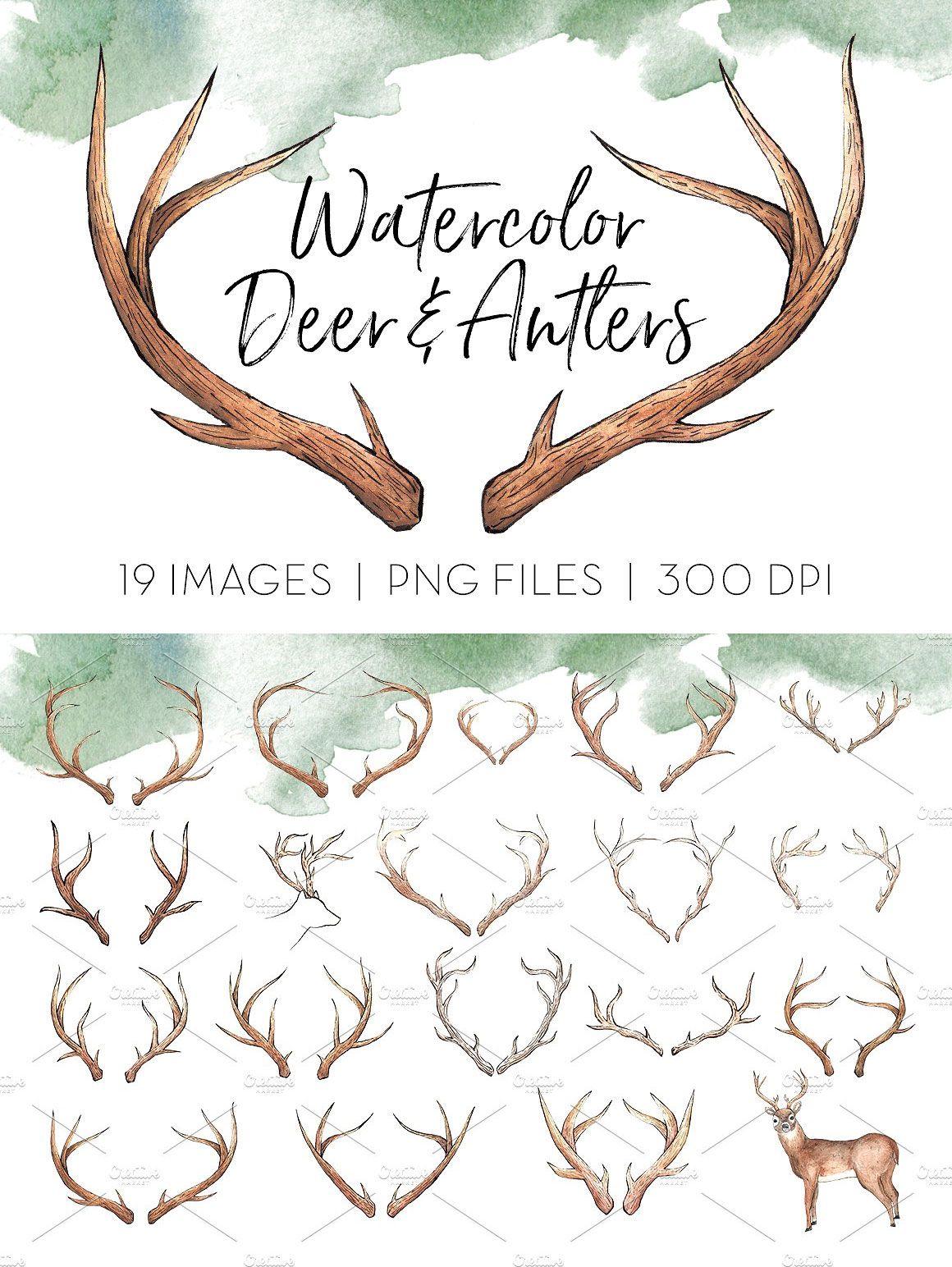 Freebies deer antlers this. Antler clipart profile