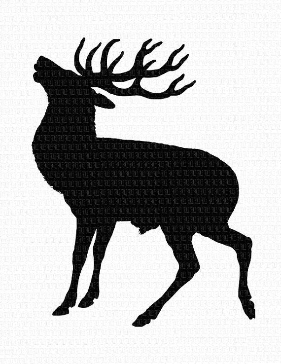 Antler clipart profile. Deer silhouette at getdrawings