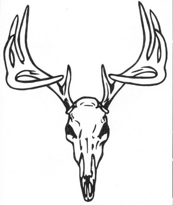Antler clipart profile.  best deer heads