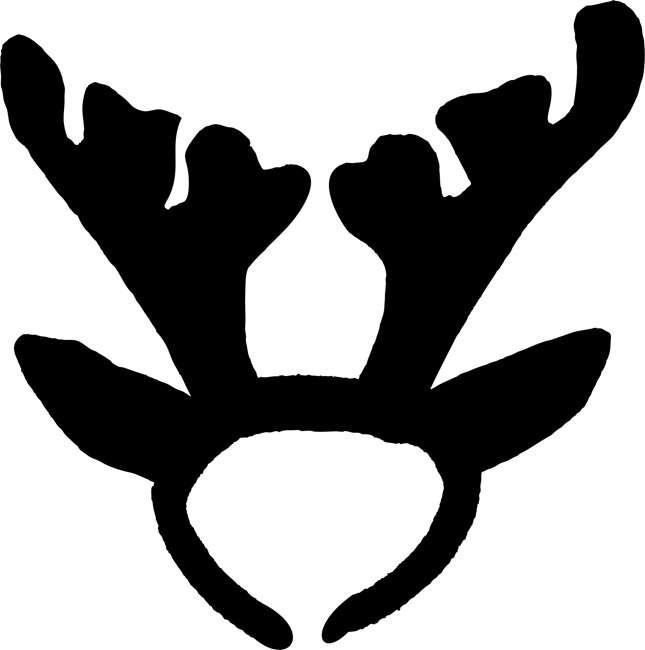 Antler clipart raindeer. Reindeer antlers christmas stencils