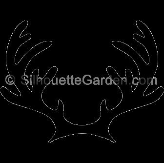Antler clipart raindeer. Reindeer antlers silhouette clip