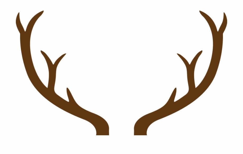Deer antlers with monogram. Antler clipart reindeer ear