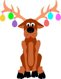 Antler clipart reindeer's. Easter clip art funny