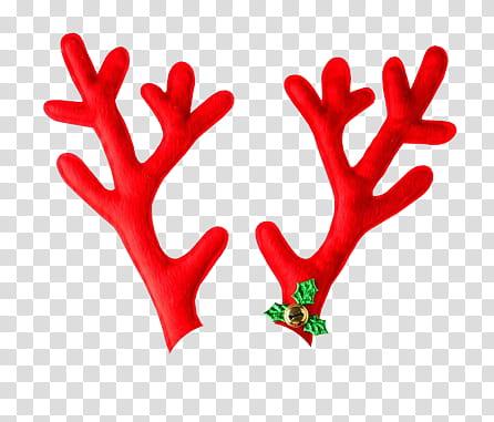 Antler clipart reindeer's. Christmas red reindeer antlers