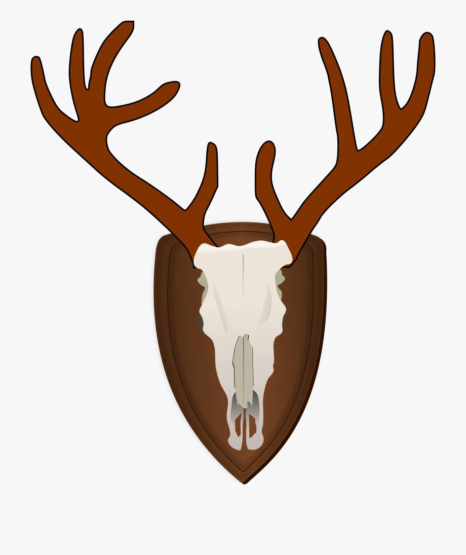 Moose shadow of a. Antler clipart reindeer's