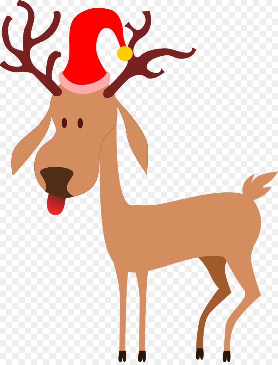 Reindeer santa claus clip. Antler clipart rudolph