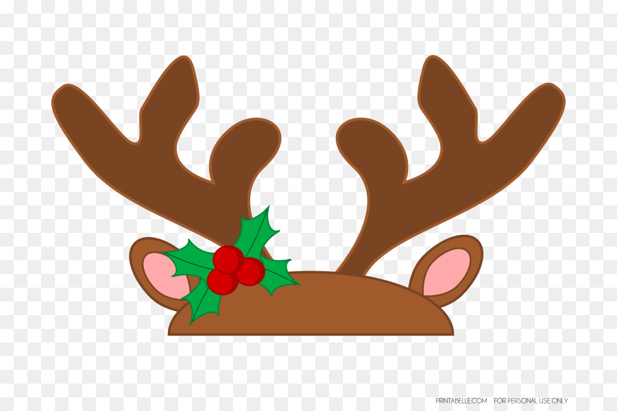Antlers clipart rudolph. Christmas png download free