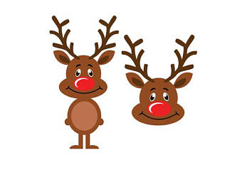 Etsy svg dxf png. Antlers clipart rudolph