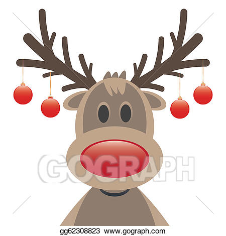 Antlers clipart rudolph the red nosed reindeer. Clip art vector nose