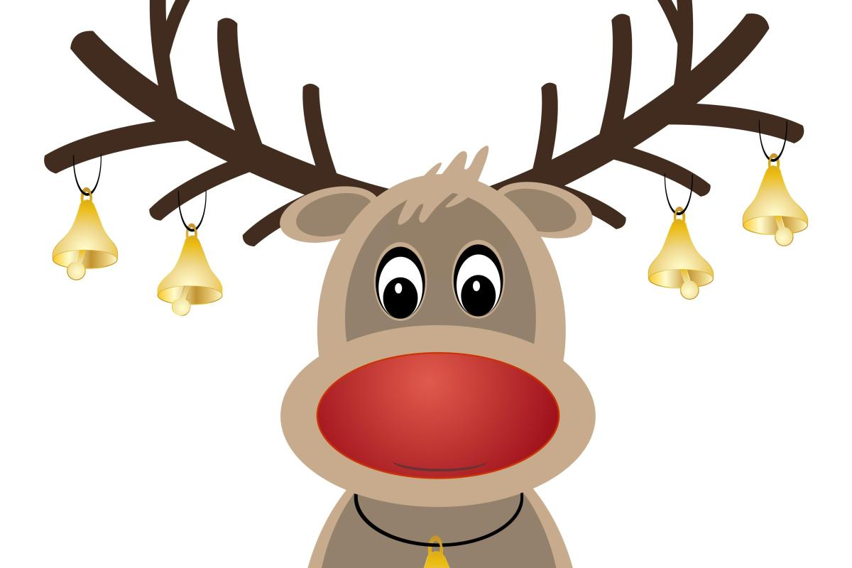 Antler clipart rudolph the red nosed reindeer. Is actually a girl