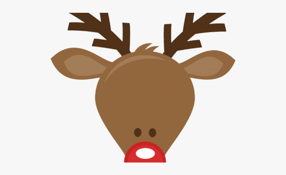 The red nosed head. Clipart reindeer rudolph