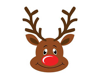 Antlers clipart rudolph. Etsy svg dxf png