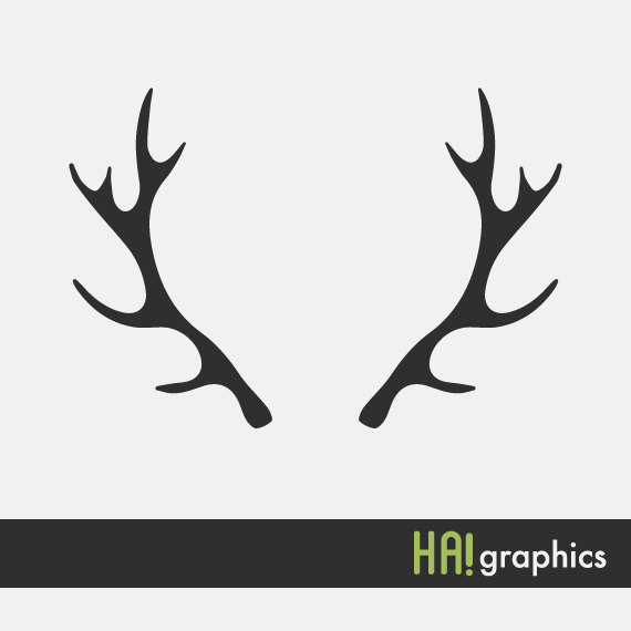 Svg and dxf file. Antler clipart silhouette