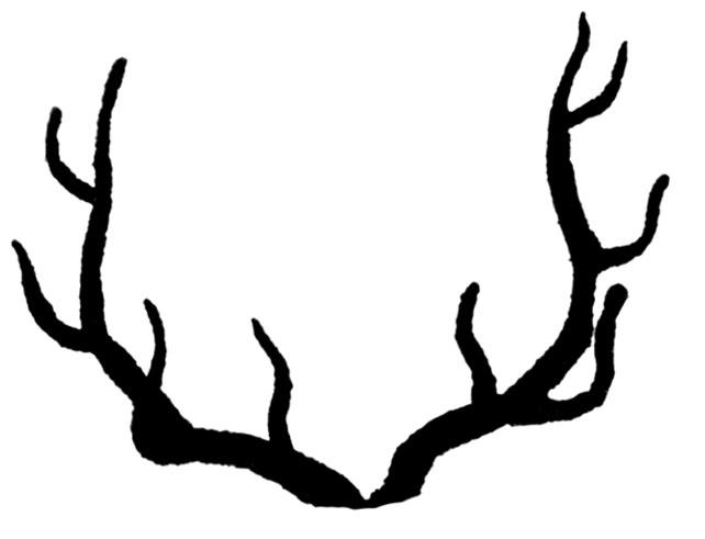 Vintage clip art deer. Antler clipart silhouette