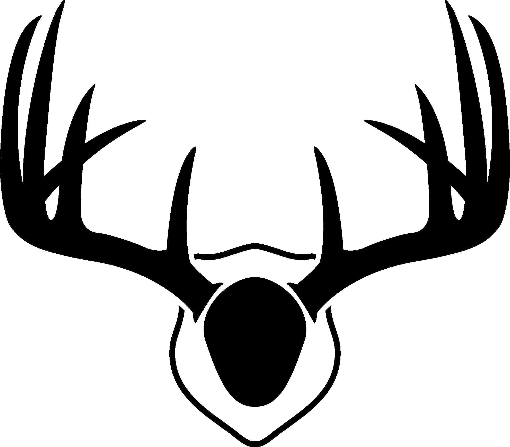 Antler clipart silhouette. Free deer antlers svg