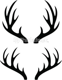 Antler clipart simple. I think m in