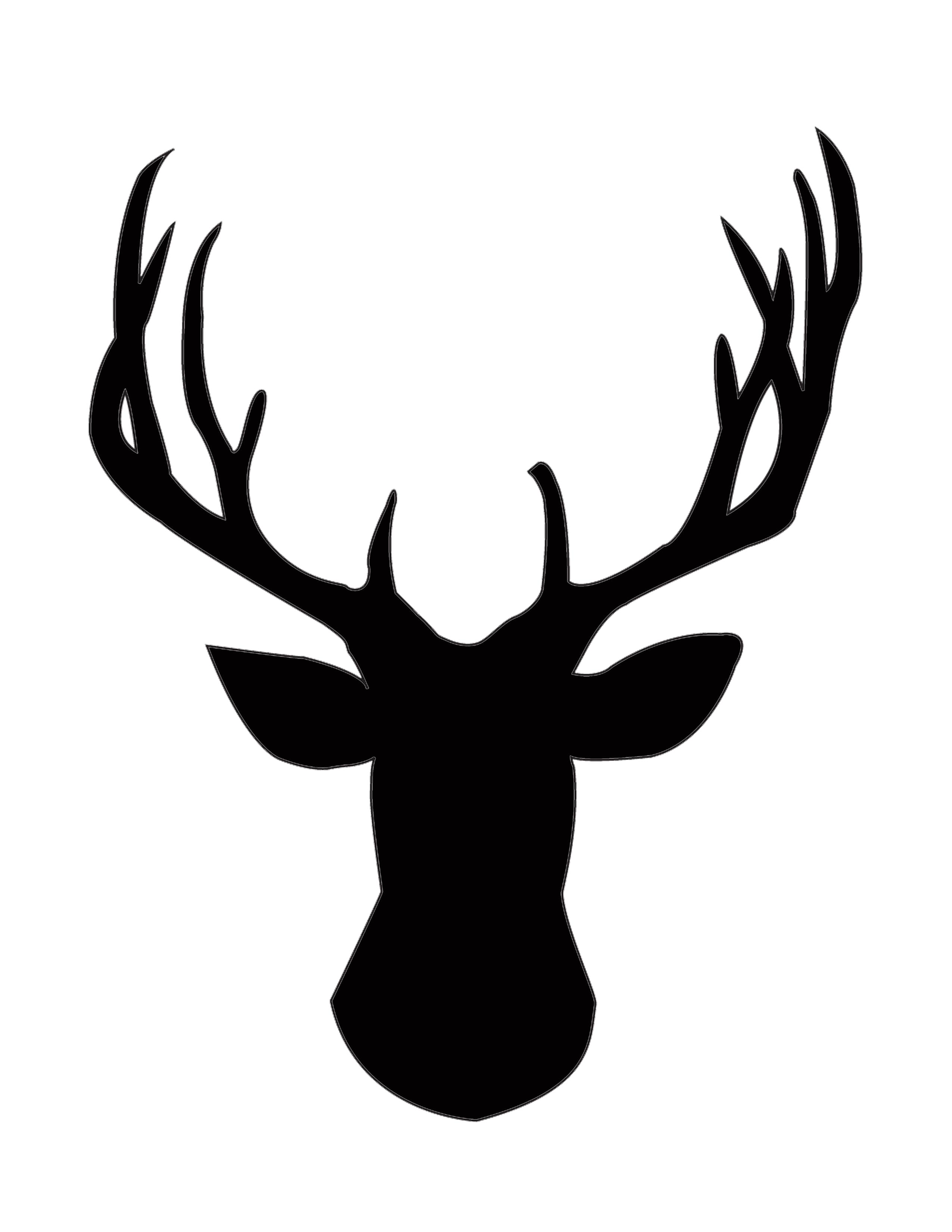 Reindeer silhouette at getdrawings. Antlers clipart simple