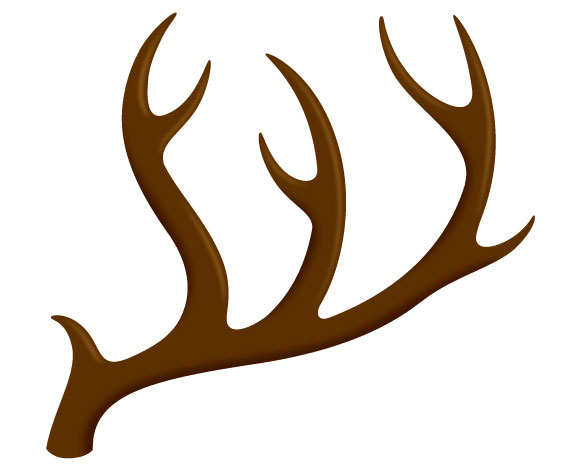 Free antler left download. Antlers clipart single