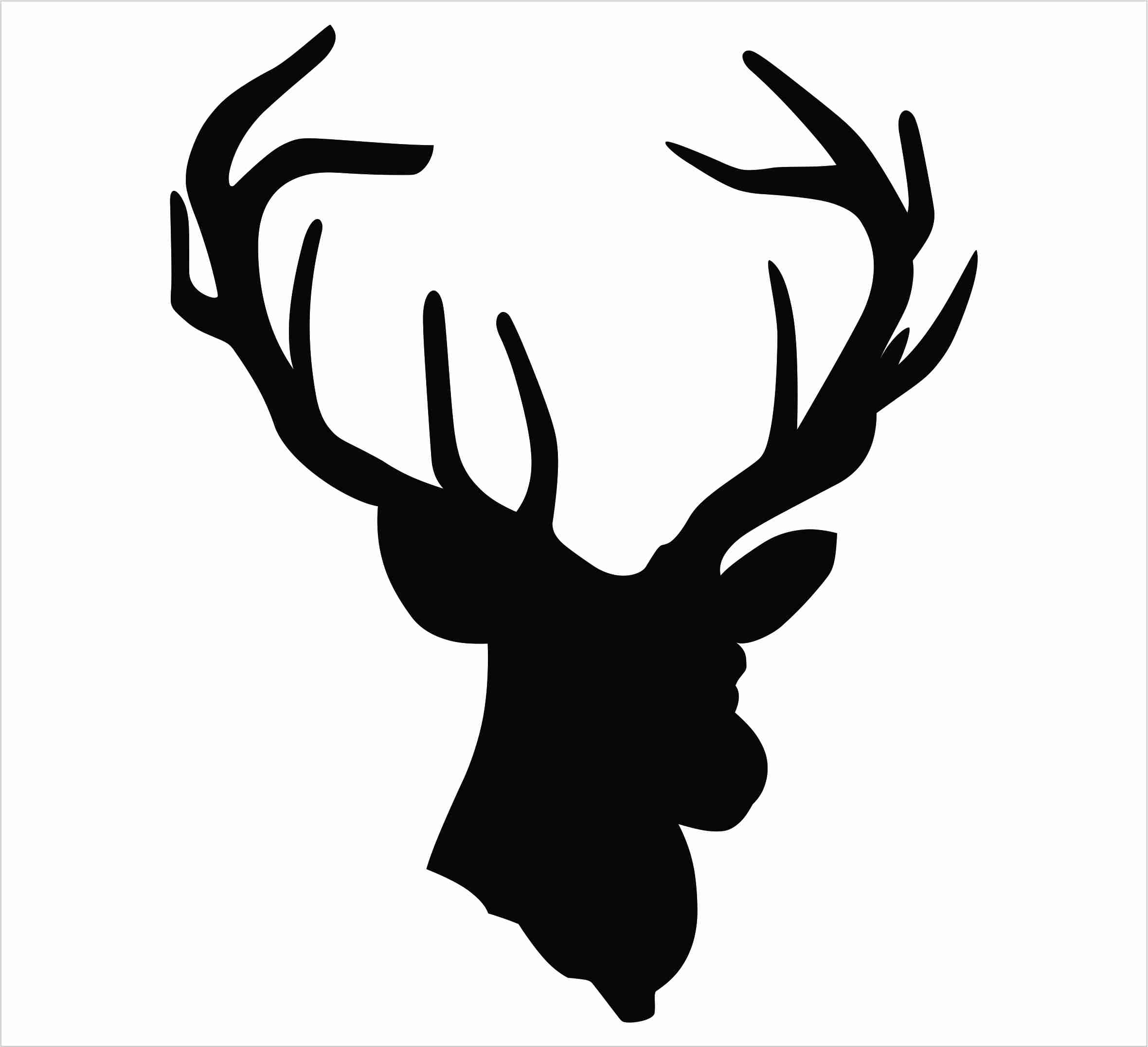 Antler silhouette at getdrawings. Antlers clipart single