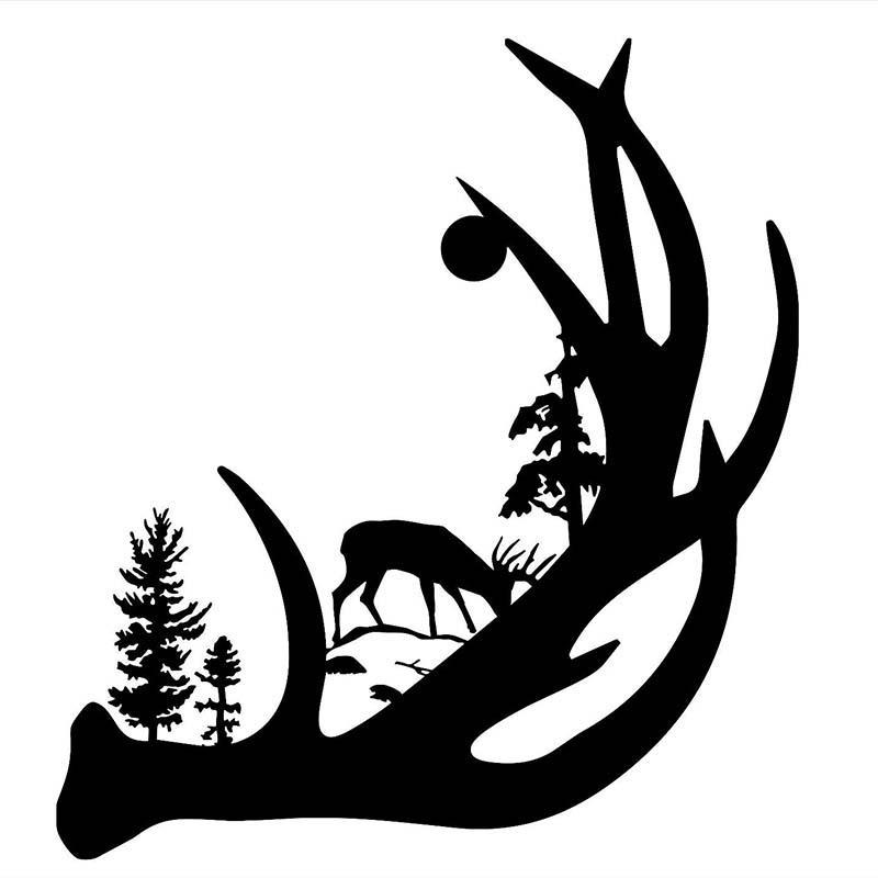 deer with buck. Antler clipart single