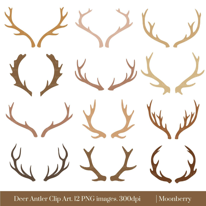 How to make deer. Antlers clipart simple