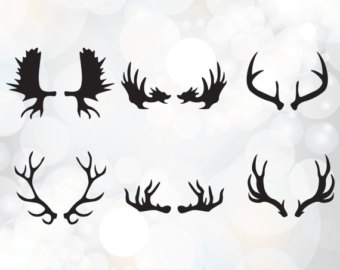 Horn etsy svg collection. Antlers clipart deer antler