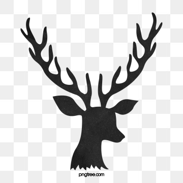 Antlers clipart stag. Deer png images vector