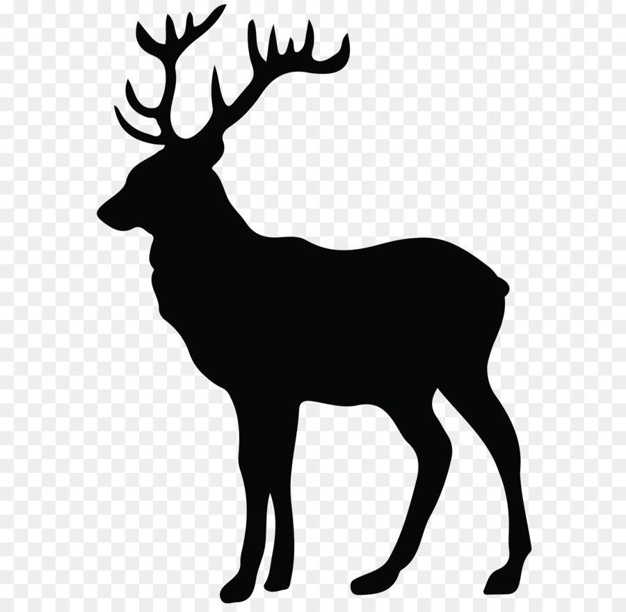 Deer paper moose screen. Antler clipart stag