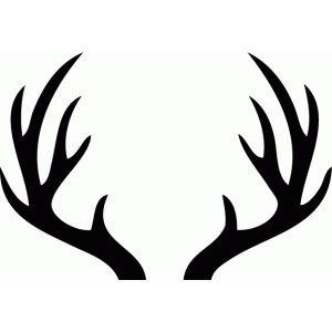 best antlers images. Antler clipart stencil