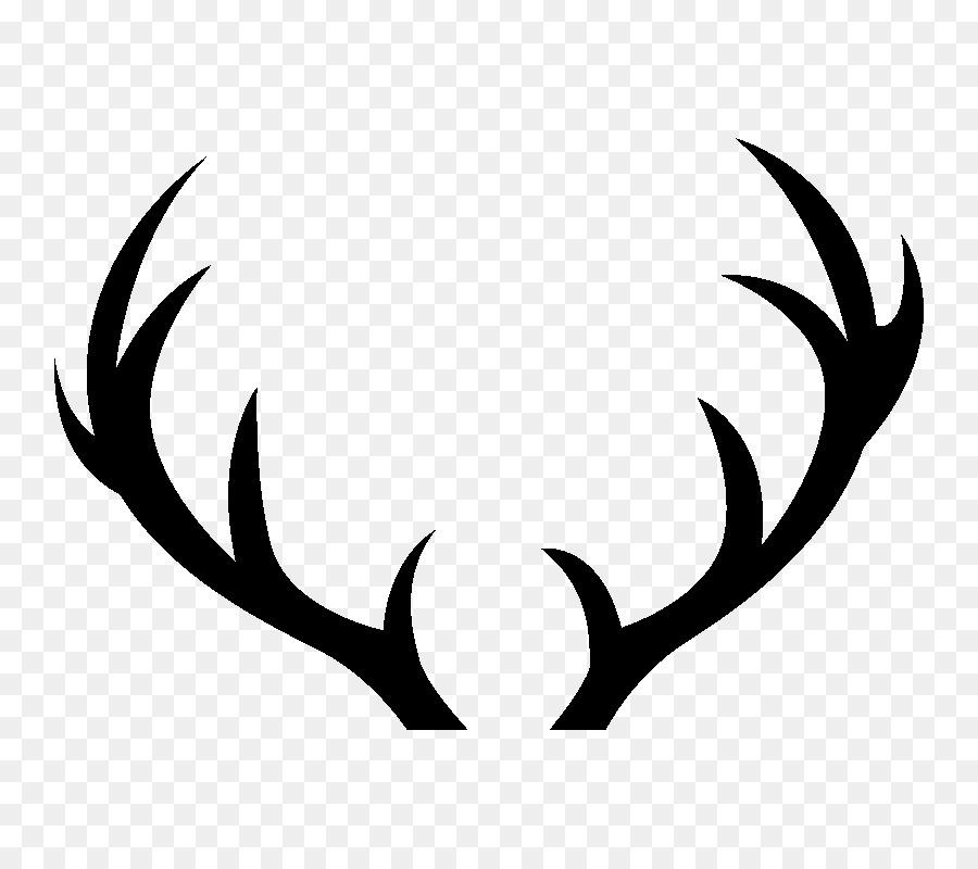 Antler clipart stencil. Reindeer silhouette deer png