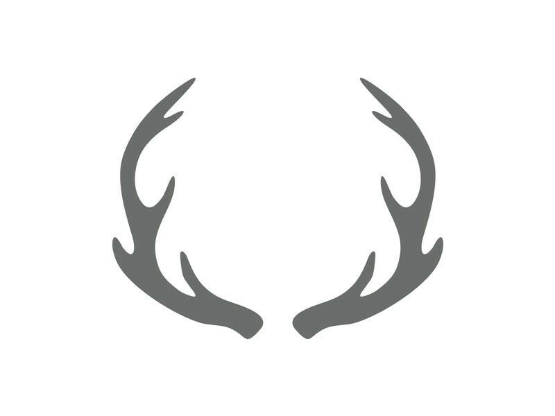 Antlers clipart stencil. Pin by shannon lee
