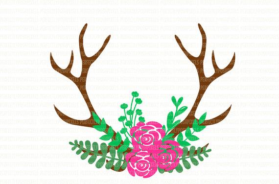 Deer silhouette at getdrawings. Antler clipart svg
