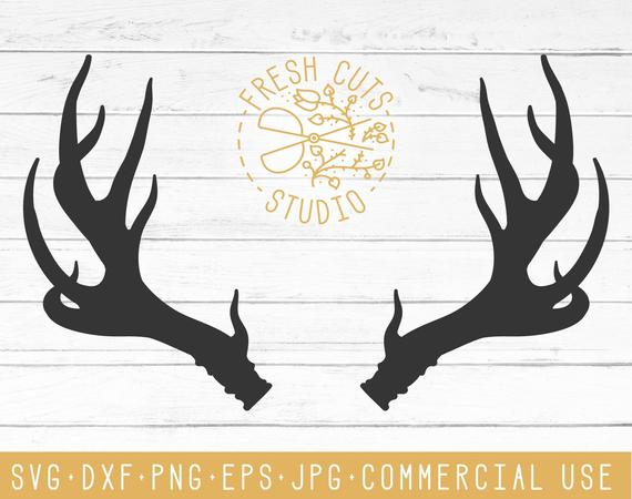 Antler clipart svg. Silhouette design vector dxf