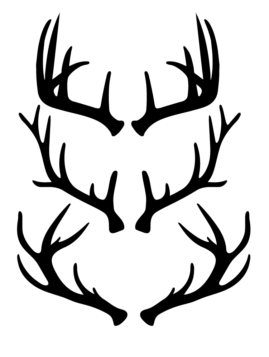 Free antlers cut files. Antler clipart svg