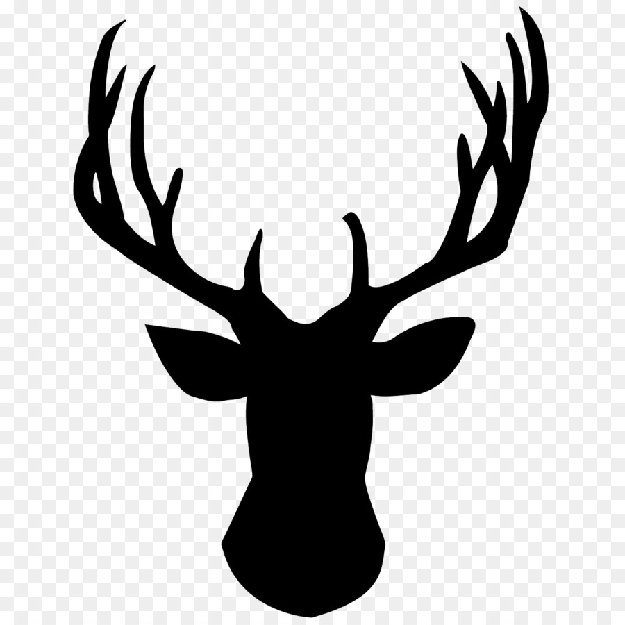 Antler clipart transparent background. White tailed deer reindeer