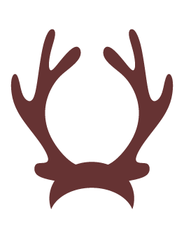 Antler clipart transparent background.  collection of reindeer