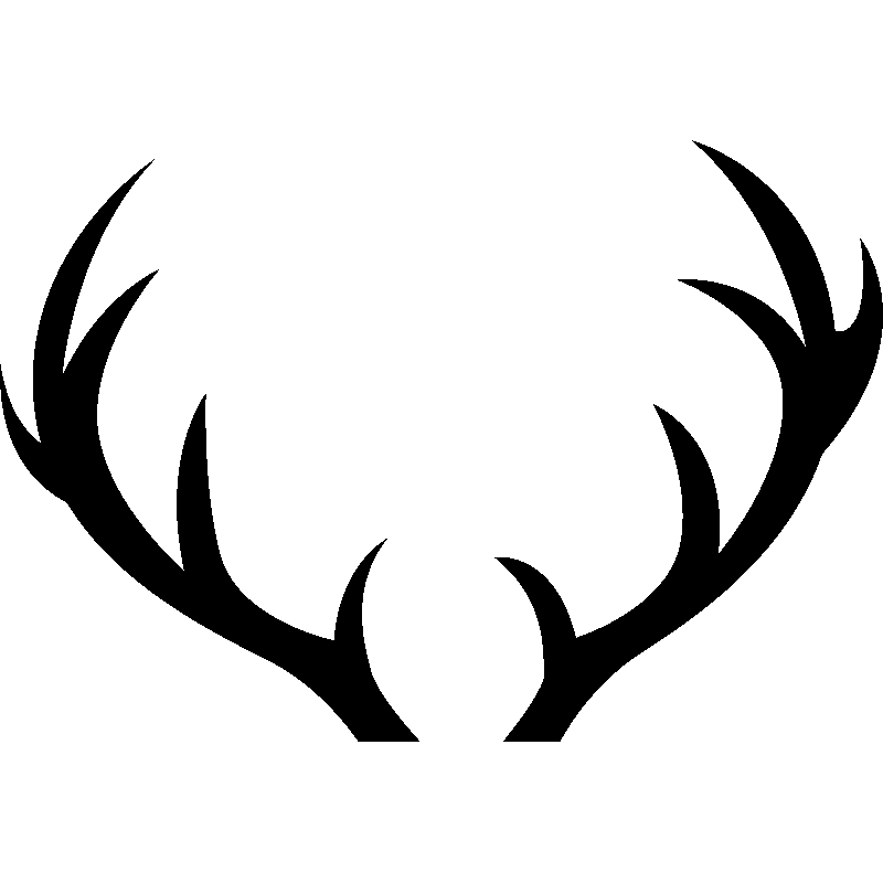 Red deer sticker clip. Antler clipart transparent background