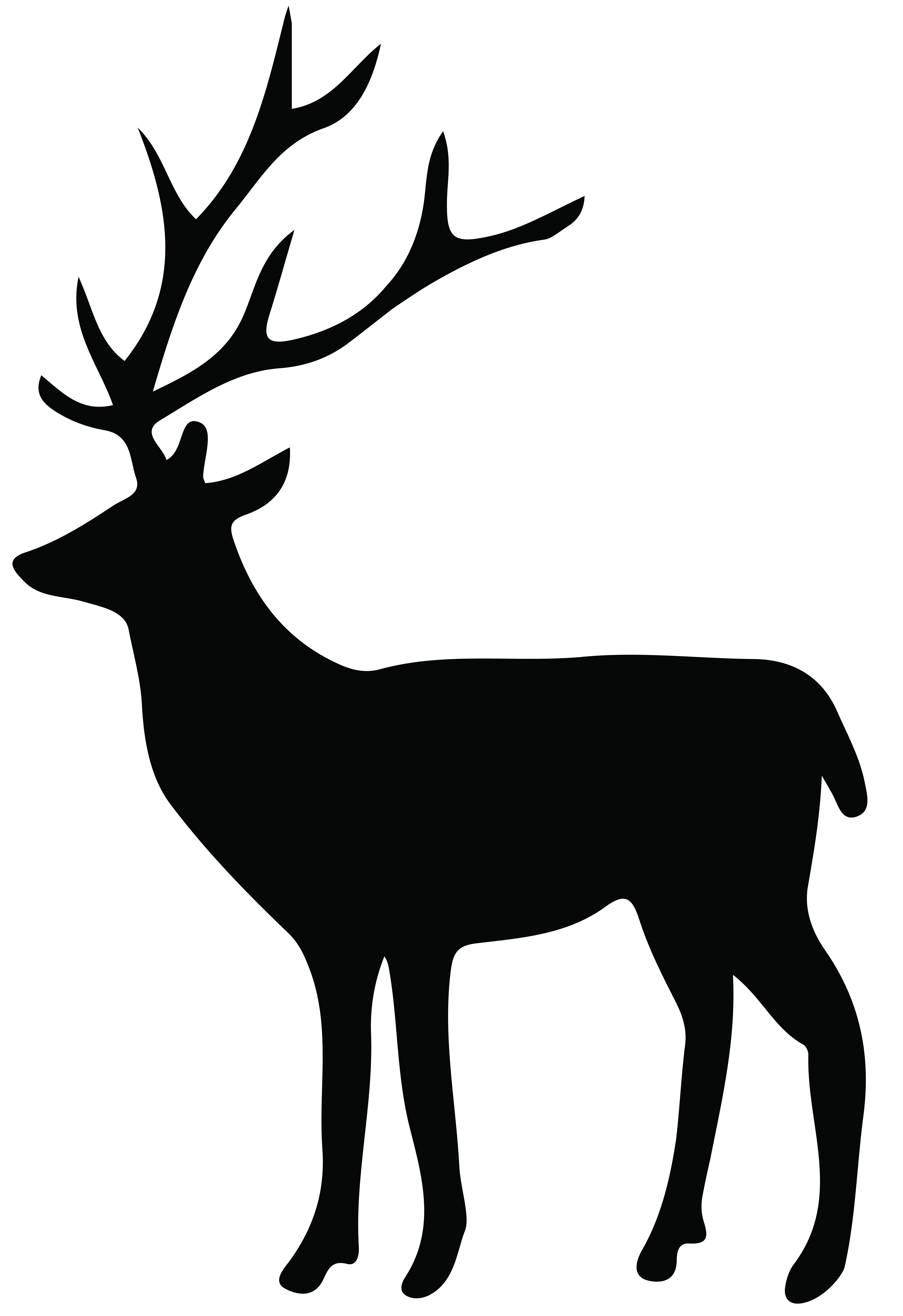 Antlers clipart transparent background. Deer silhouette png clip