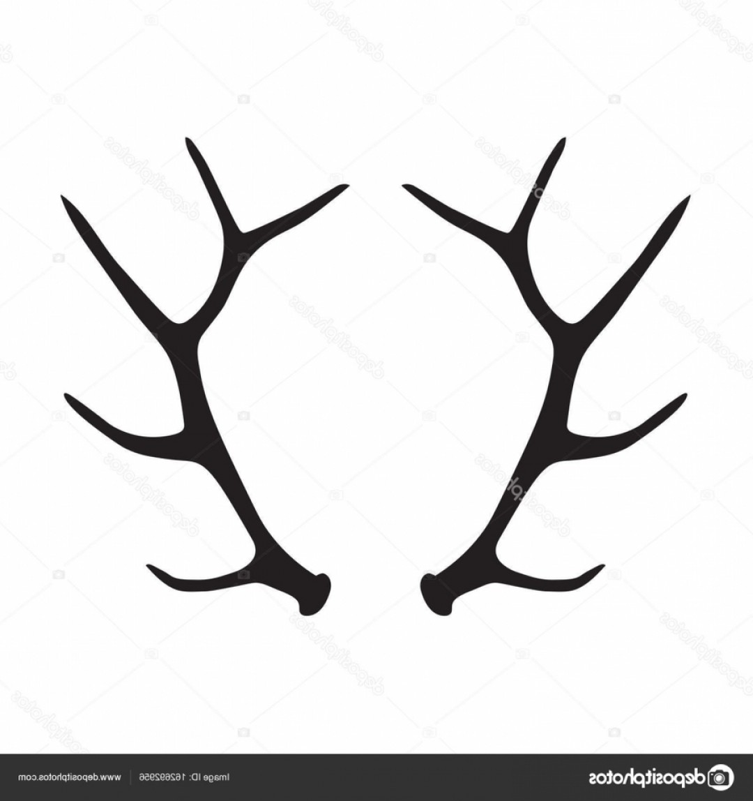 Elk silhouette deer ydpnu. Antler clipart vector