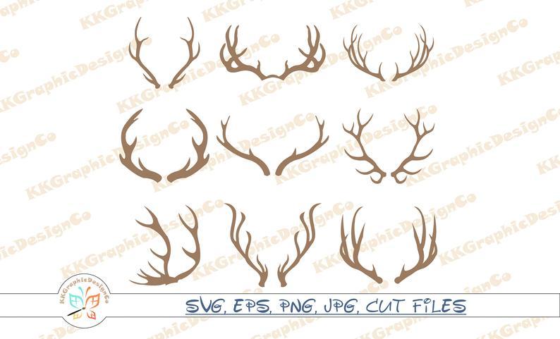 Antler clipart vector. Deer antlers horn svg