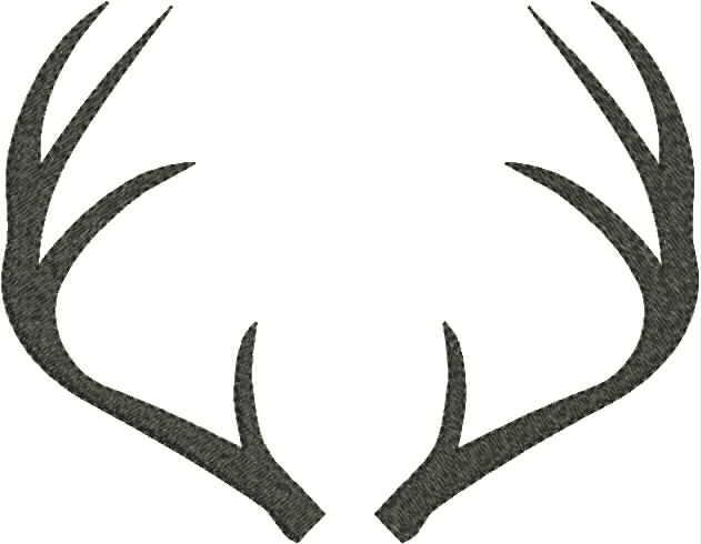 collection of deer. Antler clipart white tail
