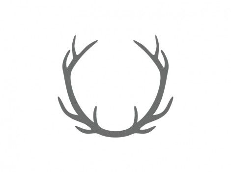 Antlers clipart wreath. Connected antler craft shape