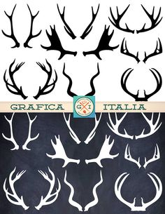 Deer clip art use. Antler clipart animated