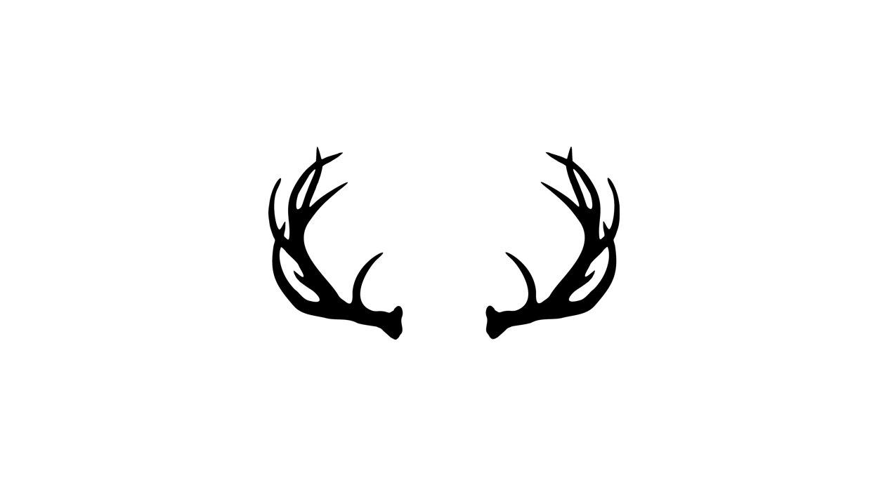 Antlers clipart. Deer panda free images