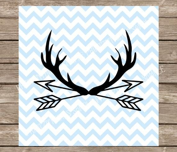 Hunting svg arrows deer. Antlers clipart arrow