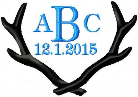 Antlers clipart border. Frame or topper tagged