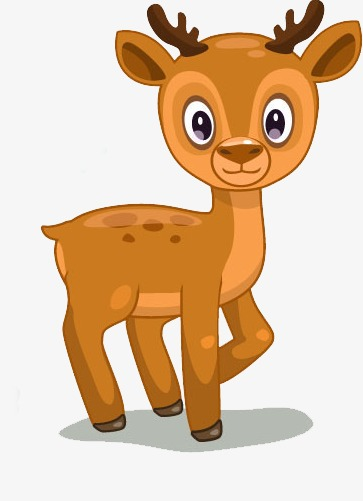 Antlers clipart cartoon. Deer lovely big eyes